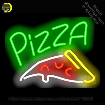 Neon Sign for Pizza Slice neon bulb Sign Neon lights Sign Hotel Real glass Tube Iconic Bulbs Food lamp Custom Brand LOGO Cerveja