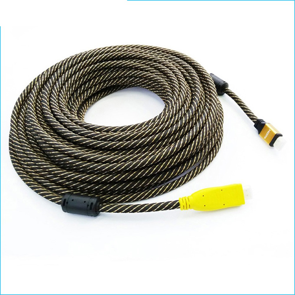 Nylon Braided Gold Plated HDMI Cable Male to Male Built-in IC V1.4 1080P 3D HDTV 25M 30M 35M 40M 45M 50M 60M linoya 24k gold plated hdmi v1 4 a type male to male cable with braided mesh support 1080p 3d 1 5m