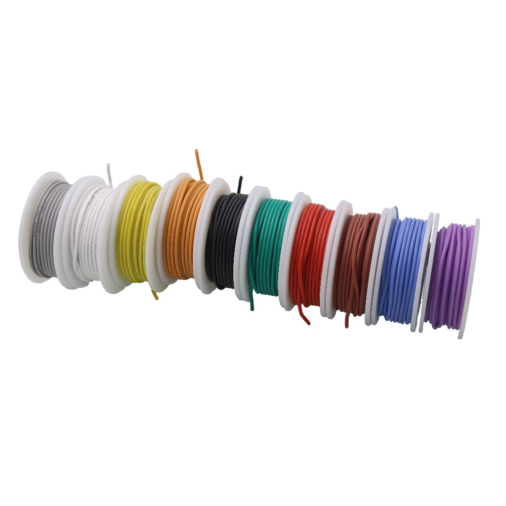 5m Blue 16' 24AWG Stranded Hook-Up Wire Copper Tinned UL1007 Jacket Color