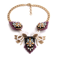 Exaggerated Bowknot Acrylic Jewelry Popular In Europe Two Colors Brand Designer Statement Necklace