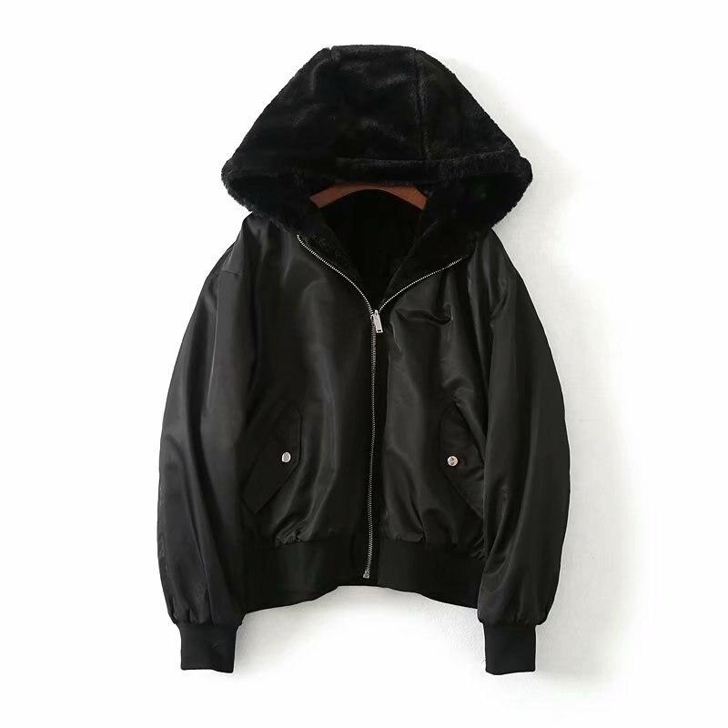 Pour Survêtement Top Faux Femmes Manteaux noir Hoodies Vestes Fourrure Thermique Gtgyff Hiver Vert Capuche Veste Manteau Chaud Noir Vert À De 8qvz51Ux