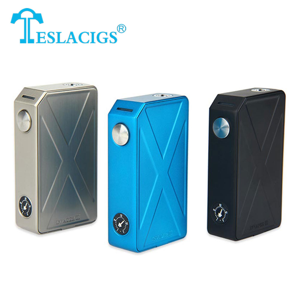 Hot Original 240W Tesla Invader 3 III Box Mod Invader 3 Vaporizer Mod for 510 Thread Electronic Cigarette Mod Vape VS Drag 157w
