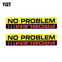 Decal Car-Sticker YJZT No-Problem Funny Personality Interesting PVC 2x16cm--3.3cm 12-0023