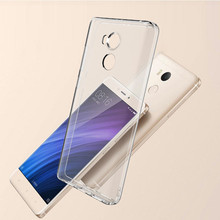 WeeYRN Funda transparente para Xiaomi Redmi 4 Pro, Funda de silicona Ultra delgada de TPU, Funda completa para Xiaomi Redmi 4