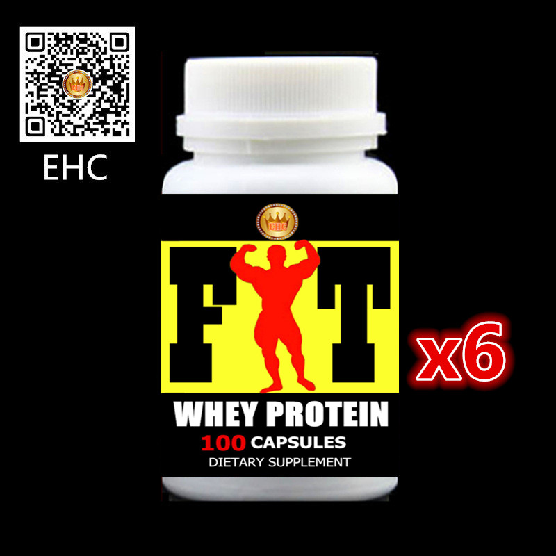 Whey Protein - 600 Capsules for Add weight and Fast muscle builder,nutritions and fitness supplement Free shipping 1kg bulk packing sports supplement supplement optimum nutrition powder whey protein isolate