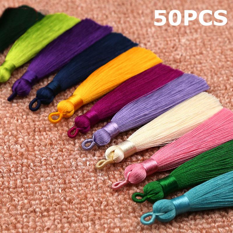 12cm Charms Ice Silk Long Tassel Pendants Trim Craft DIY Applique Jewelry Making