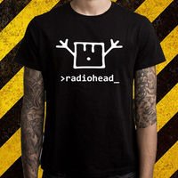 New Radiohead Rock Band Logo Men S Black T Shirt Size S To 2XL Streetwear Funny