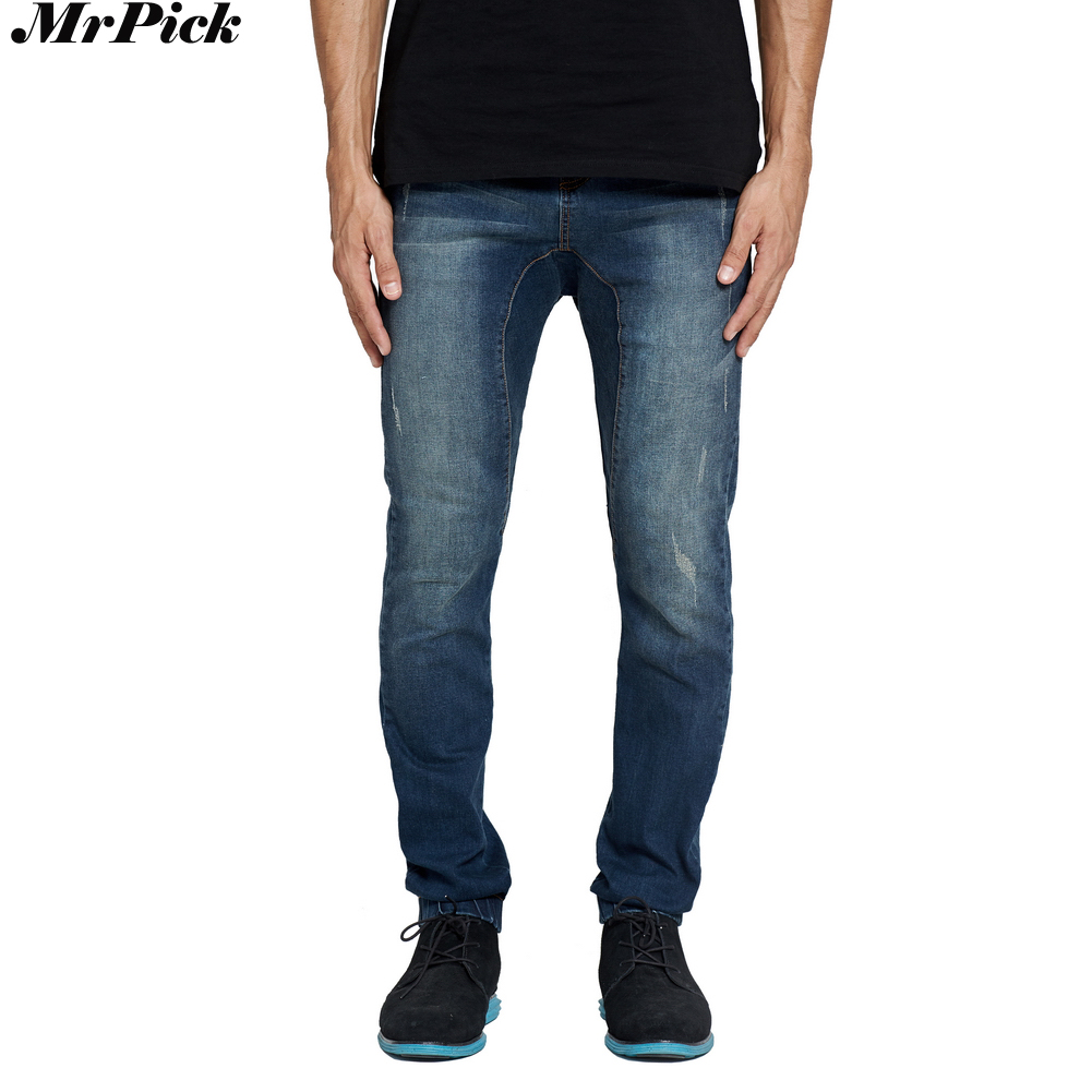 MrPick Men's Jogger Jeans Slim Stretch Motorcycle Drop Crotch Denim Spring Autumn Harem Jeans