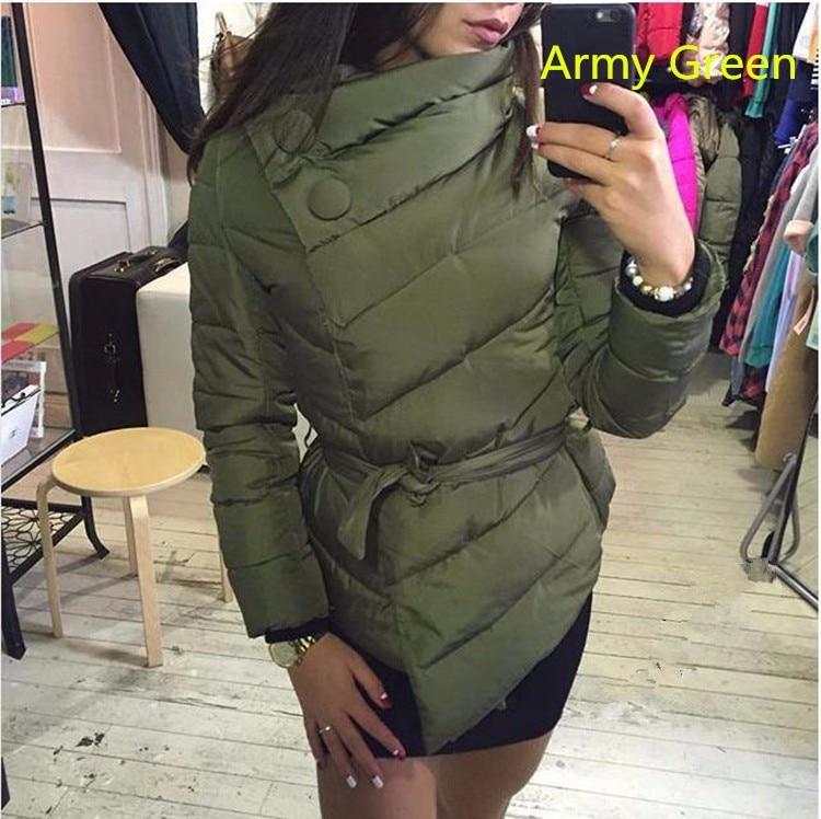 Women's Autumn Winter Cotton Coat Parks 2017 Irregular Collar Warm Outerwear Jacket Jaqueta Feminina Inverno Manteau C3223