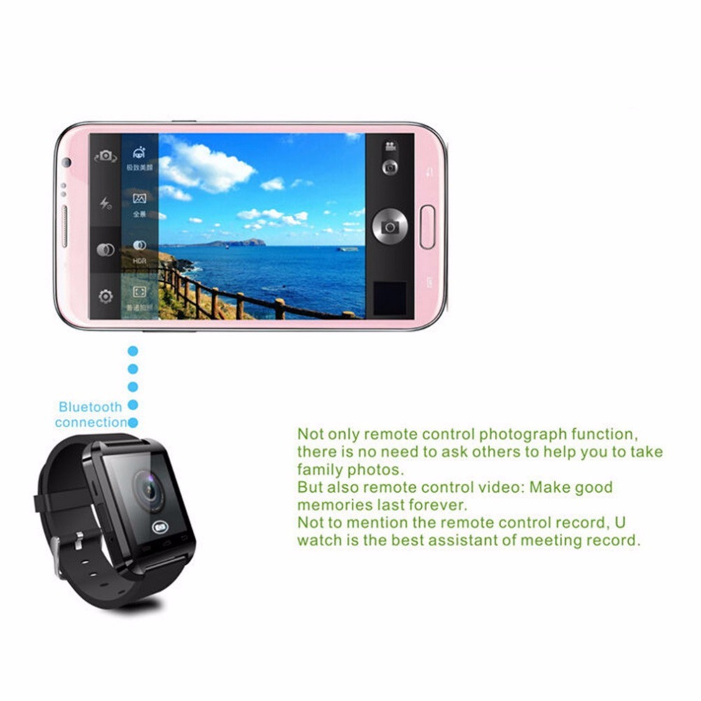 Image 3 - Bluetooth Smart Wrist Watch Phone Camera Card Mate  V3.0 + EDR  Smart Watch SIM Camera Card Mate Phone call For IOS Android-in Smart Watches from Consumer Electronics