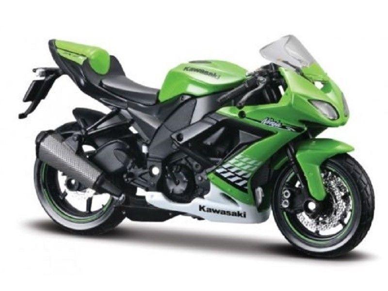 MAISTO 1:18 Kawasaki Ninja ZX 10R MOTORCYCLE BIKE DIECAST MODEL TOY NEW IN BOX Free Shipping
