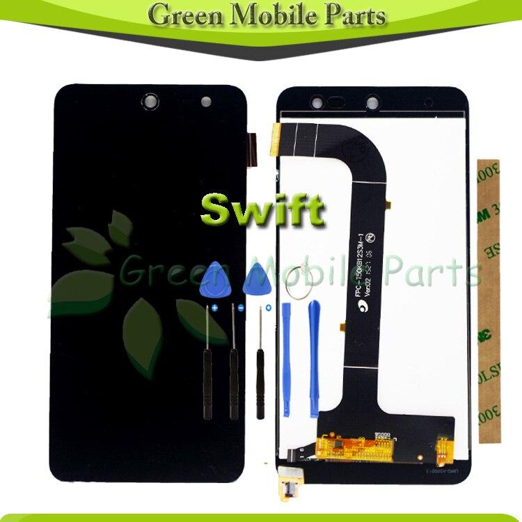 imágenes para 100% Probado Pantalla Táctil Para Wileyfox Swift Ensamblaje de la Pantalla LCD Con 3 M Adhesivo
