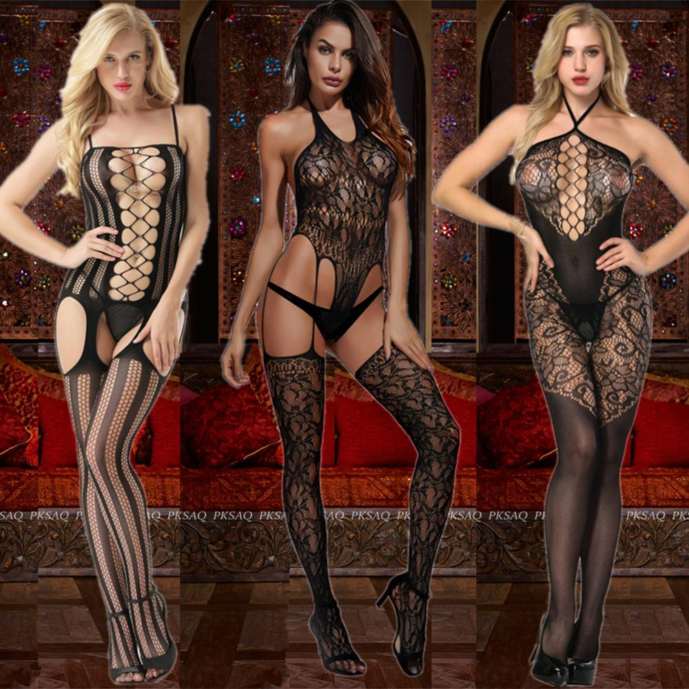 Women Open Crotch Bodystocking Sexy Erotic Lingerie Fetish Bodysuit Saroosy Porno Underwear Crotchless Babydoll Costumes 2019