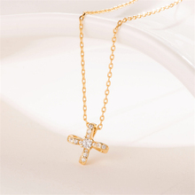 New Hot Best Friends Rose Golden Cross Pendant Necklace Luxury 925 Sterling Sliver Chain CZ  Women Personalized PL674
