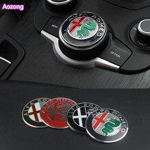 1 шт. ручка для салона автомобиля, мультимедийная ручка, украшение, кольцо, наклейка для Alfa Romeo Giulia Stelvio, аксессуары для стайлинга автомобилей
