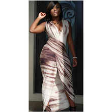 Women V Neck Sexy Maxi Dress 2015 New Fashion Casual Bandage Elegant Sleeveless Long Dress Plus Size S M L XL L51218