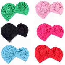 Bnaturalwell Mom and baby Top Knot Turban hat set Baby girls boys Headwrap Toddler soft Turban vintage style retro baby H067S