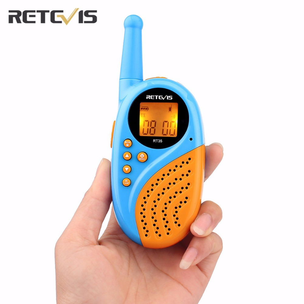 Retevis RT-35 Kids Mini Walkie Talkie EU Frequency 16 CH 0.5W License-free Rechargeable USB Charge VOX Two Way Radio A9120M