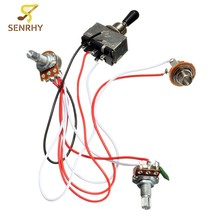 popular toggle switch wiring buy cheap toggle switch wiring lotselectric guitar wiring harness kit 3 way toggle switch 1 volume 1 tone 500k pot electric guitar 2 humbucker