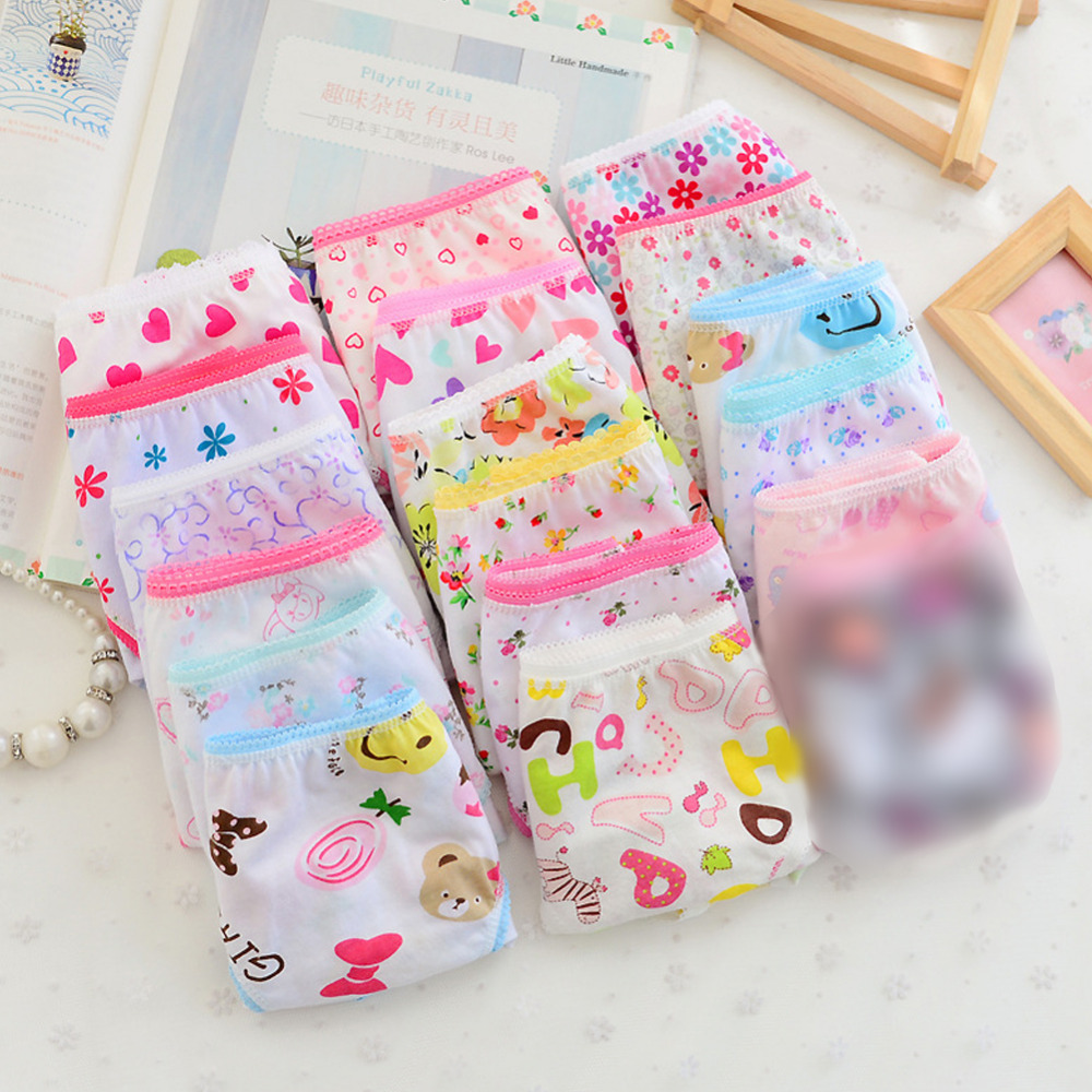 6pcs Fashion Baby Kid Girl Underwear Soft Cotton Panties Child Short Briefs Cute
