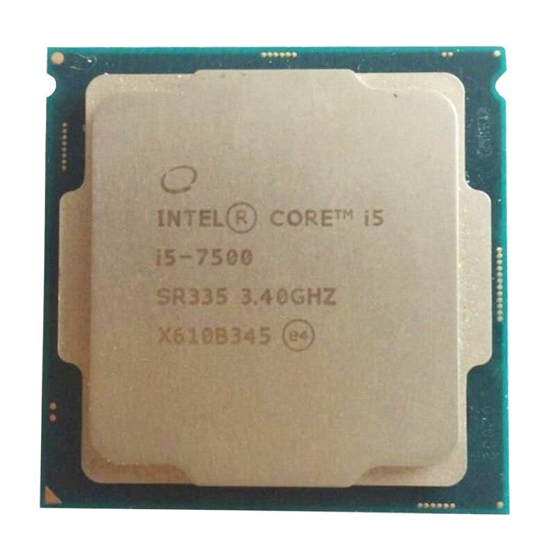 Intel I5 7500 CPU LGA 1151-land FC-LGA 14 Nm Quad-Core Core 6 Series PC Computer Desktop Processor I5-7500