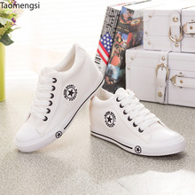 Taomengsi new high canvas shoes in the flat bottom girls