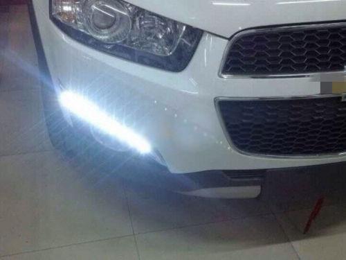 1pair Daytime Running Light LED DRL Fog Lamp for Chevrolet Captiva SUV 2011-2014 new arrival a pair 10w pure white 5630 3 smd led eagle eye lamp car back up daytime running fog light bulb 120lumen 18mm dc12v