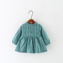 2017 Printemps et Automne Coréenne Enfants de Robe Pour Les Filles Coton Bébé Princesse Gilet Robes robe de Bal Fleur Motif Nouveau arrivées