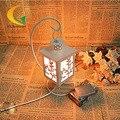 Творческий моды полые резные олень Утюг кристалла соли лампа ночник у кровати свежий и романтизм настольная лампа