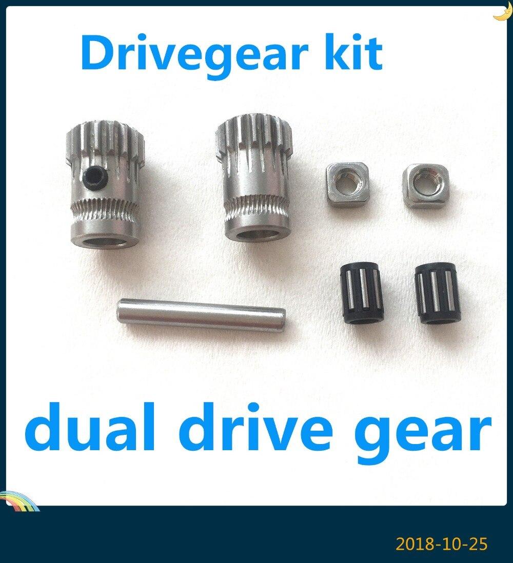 3D Printer Parts Cloned Btech Dual Gears DIY Prusa i3 Steel Pulleys Kit 3D Printer Gears Extrusion Wheel Prusa i3 MK2/MK3