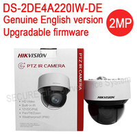 In Stock English Version DS 2DE4A220IW DE 2MP Network IR Mini PTZ Camera Outdoor 20x Optical