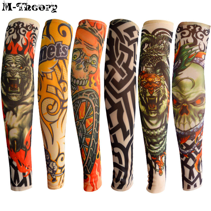 6 pcs Kid Size Tattoo Sleeves Body Art Stockings Leggings Cute Boys Girls Fashion Accessories