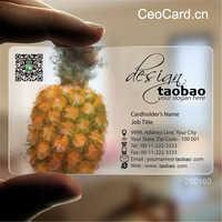 パーソナライズされた 200 個 1 デザイン卸売カスタム印刷透明なプラスチックのビジネス PVC ID カード