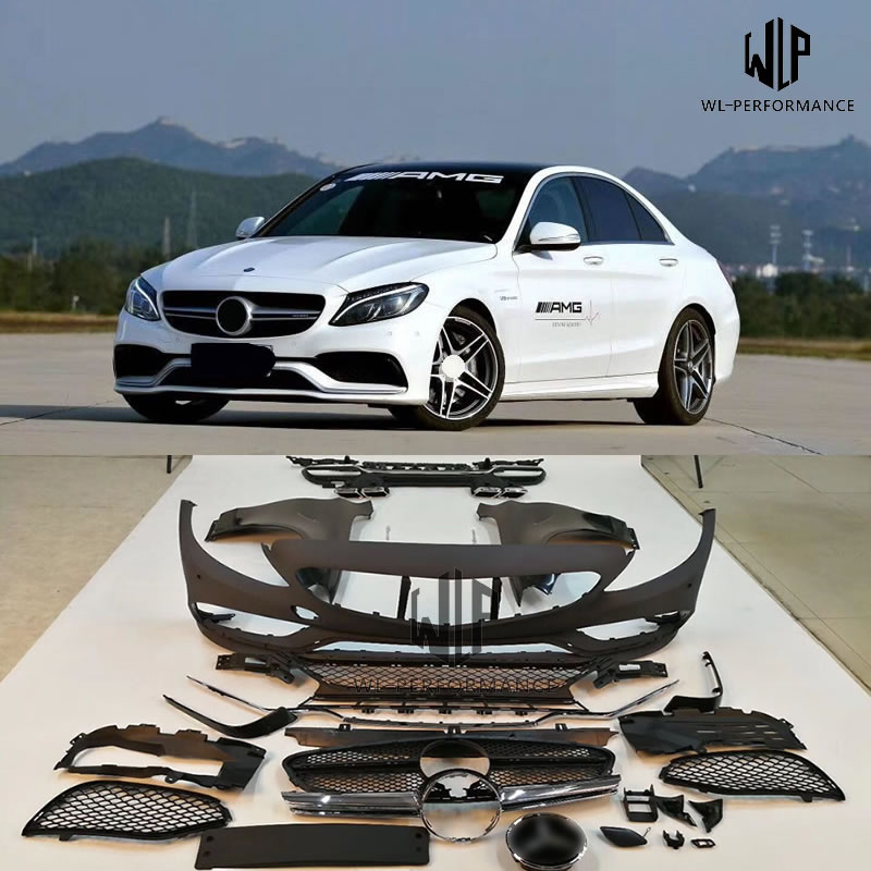 Hot Promo #df60 W205 PP Unpainted Car Body Kit Front