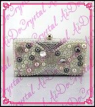 Aidocrystal super qualität handmade weißer kristall party handtasche für hochzeit