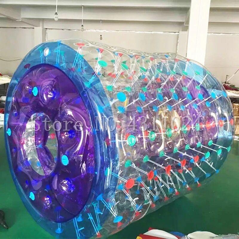 Livraison gratuite 2.4x2.2 m matériau de polyuréthane thermoplastique gonflable roue d'eau piscine gonflable rouleau d'eau, boule de rouleau d'eau, balles d'eau gonflables