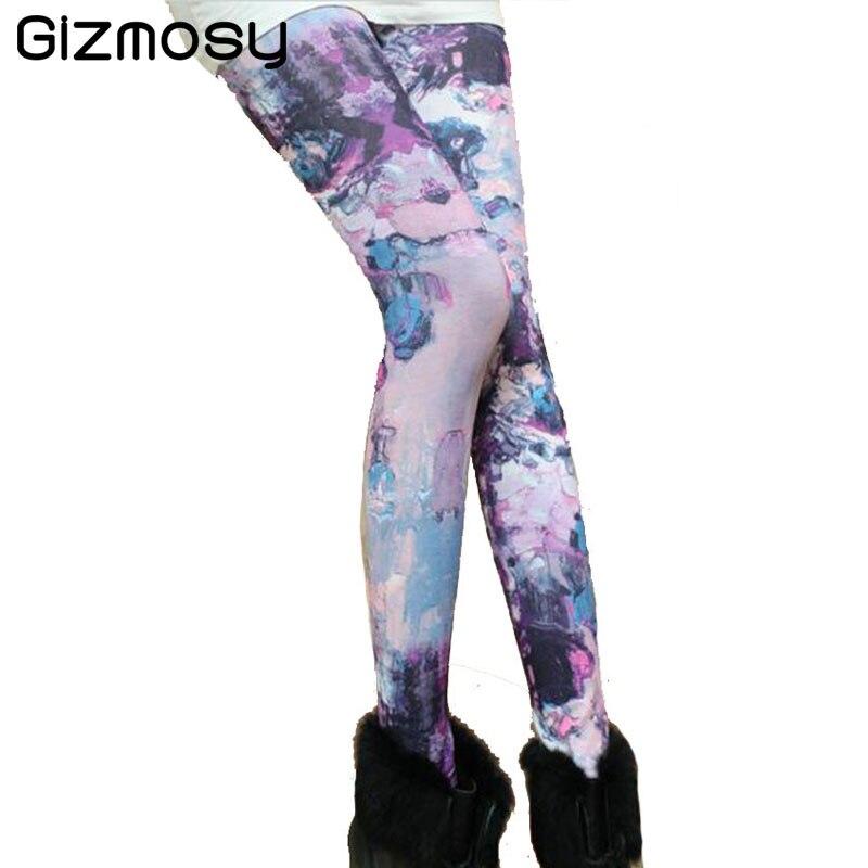 New Elasticity Print Quick Dry Sporting Leggings Women 2017 Casual Compression Pants Rainforest Printing Legging Leggins SY040