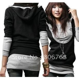 Hot On sale!!!!!!! Women's Fashion t shirt New Style Outerwear Hoodies Ladies fashion Coat Women hoodie garment Free shipping