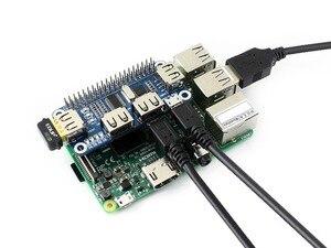 Image 3 - Waveshare USB לuart ממיר 4 יציאת USB HUB כובע עבור פטל Pi 2B/3B/3B +/ אפס/אפס W תואם עם USB2.0/1.1