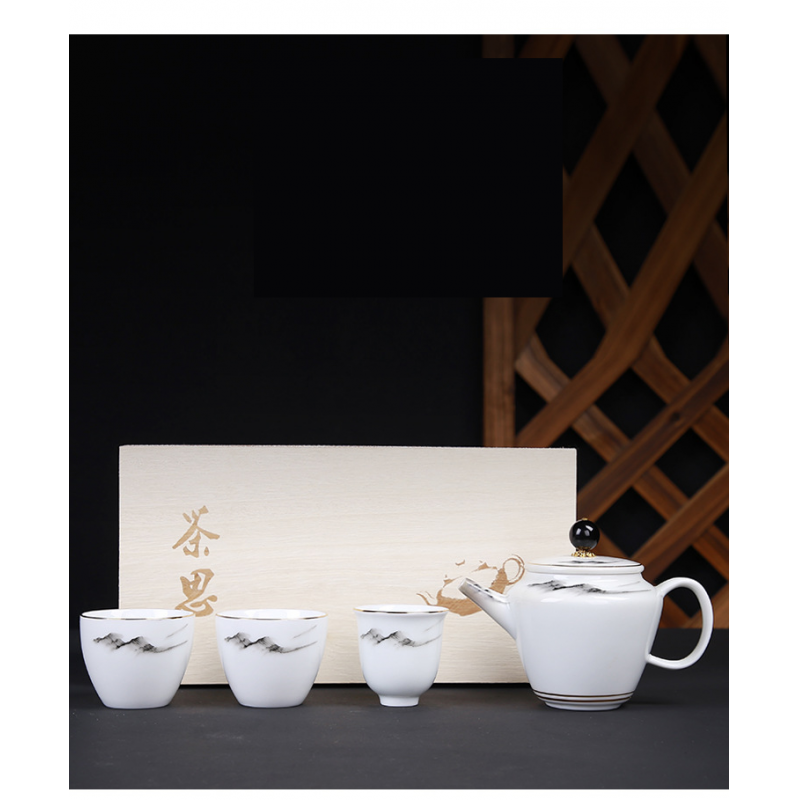 Chinese Kung Fu Teaware Sets China Travel Tea Set Ceramic Teapot Teaset Gaiwan Set Tea Cups Of Tea Ceremony Teaware Sets Gitft