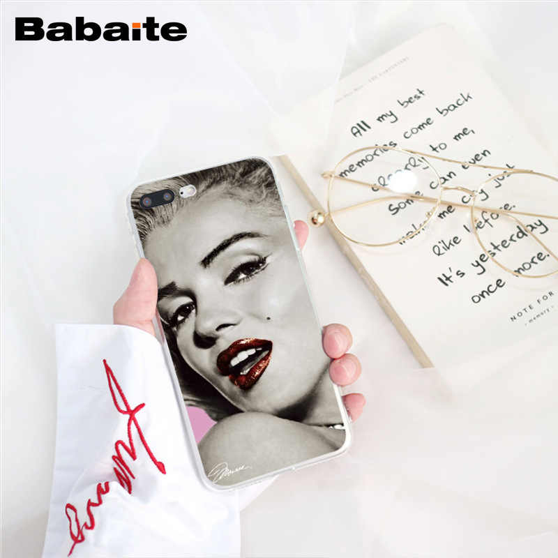 Babaite Audrey Hepburn Tattooed Marilyn Monroe Quote Phone Case for iPhone  8 7 6 6S Plus X XS MAX 5 5S SE XR 10 Cover
