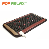 POP RELAX LED photon tourmaline massage mat far infrared light therapy stone pad electric health care heating germanium mattress