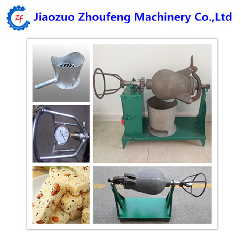 Industrial rice popping bulking machine corn popper popcorn maker price multifunctional corn and rice puffing machine grain bulking extruder machine puffed maize snacks making machine zf