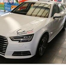 Araba styling ışık kaşları çıkartmalar Audi A3 A4 B6 B8 A6 C5 C6 80 B5 B7 A5 Q5 Q7 TT 8P 100 8L C7 8V A1 A3 Q3 A8 RS S hattı