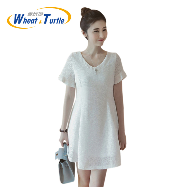 2016 Summer New Arrival Hot Sale Maternity Dress Ultra Thin Chiffon Material All Match Large Size For Pregnant Women