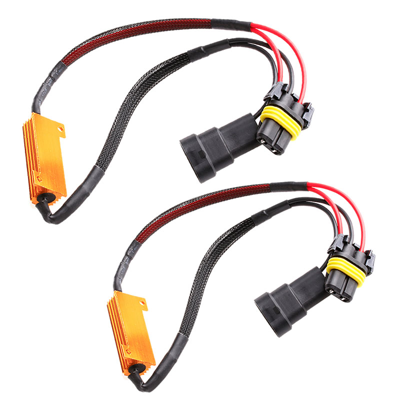 Car Lights Car Headlight Bulbs(led) Qualified 2pcs Car Vehicle 50w 6ohm 9005/9006 Led Canbus Fog Light Load Resistor Decoder To Assure Years Of Trouble-Free Service