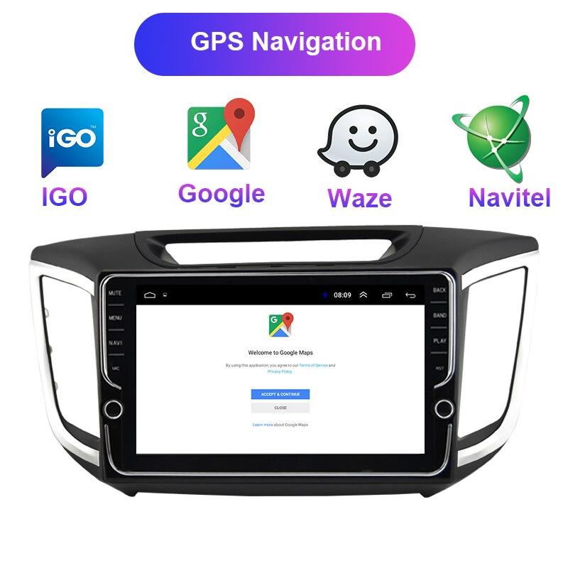Android 8 1 2din car radio dvd For Hyundai ix 25 Creta 2014 2017 2018 Car video DVD Player auto Radio GPS Navigation multimedia in Car Multimedia Player from Automobiles Motorcycles