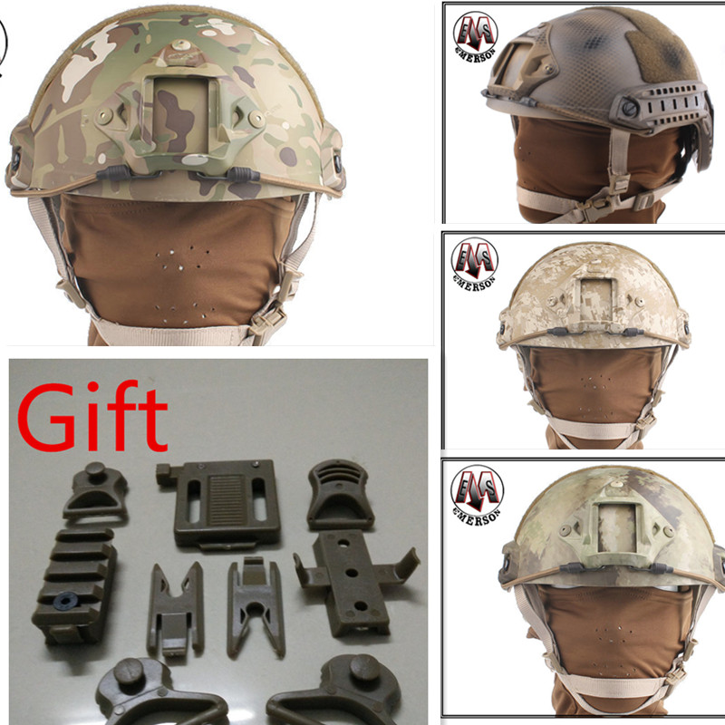 Tactical protective helmet Base Jump Helmet EMERSON FAST Helmet MH TYPE Multicam DD ATFG HLD MR TYP fire maple sw28888 outdoor tactical motorcycling wild game abs helmet khaki