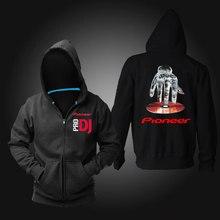 Freies verschiffen pro pioneer dj männer frauen casual nachtclub zipper hoodies cardgain sweatshirtvlies musik kleidung