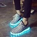 Light up zapatillas hombre Привело мужской обуви для взрослых повседневная обувь СВЕТОДИОДНЫЕ светящиеся мужской обуви всех размеров свет мужчина обувь chaussure